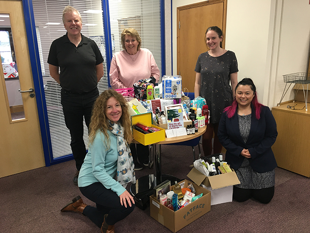 TH March Donate Personal Care Supplies to Help UK Families