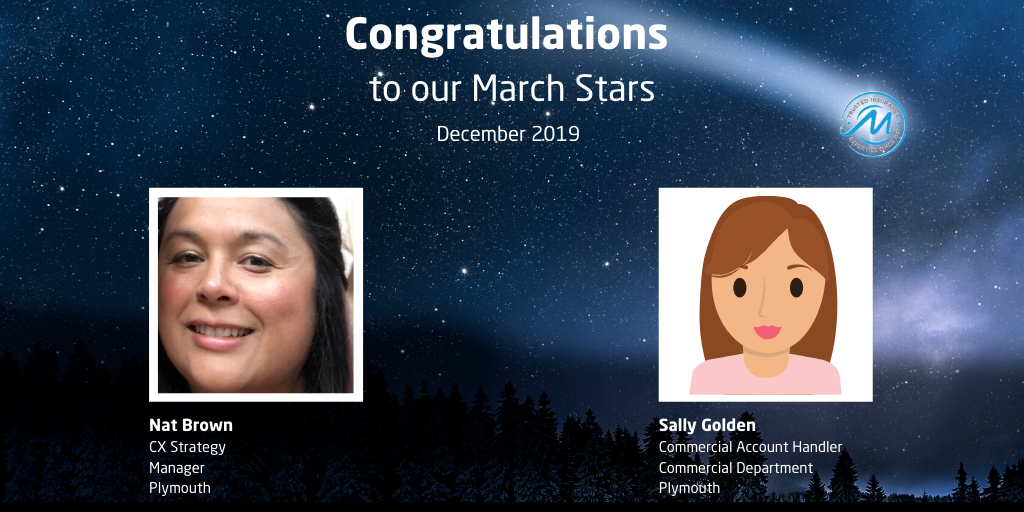 Congratulations to our March Star Winners for December