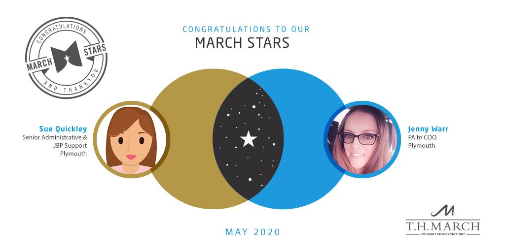 Congratulations to our March Star Winners for May