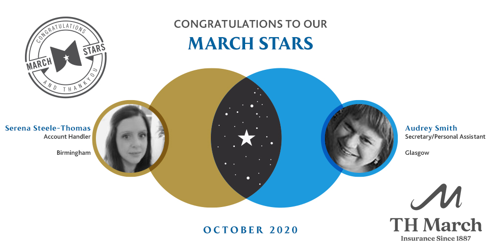 Congratulations to our March Star Winners for October