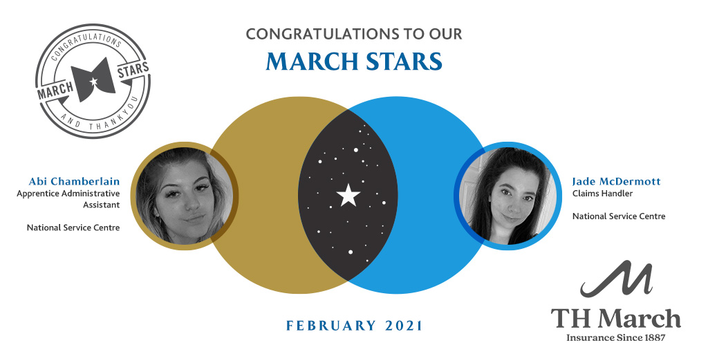 Congratulations to our March Star Winners for February