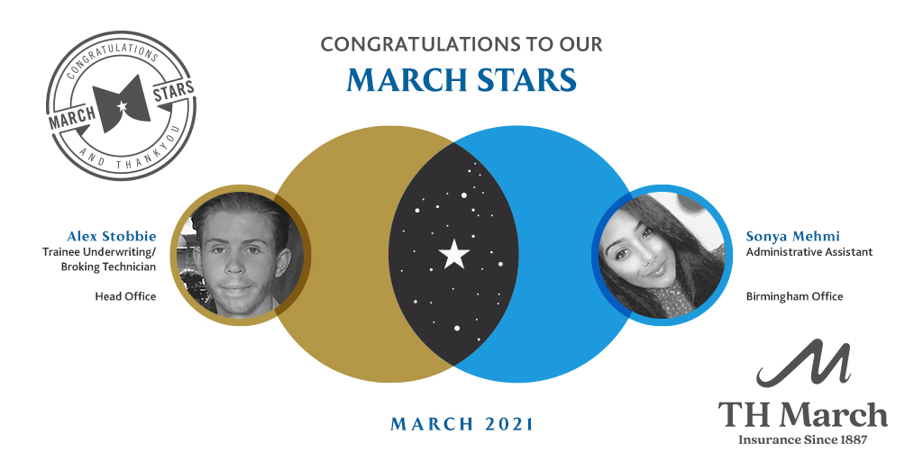 Congratulations to our March Star Winners for March