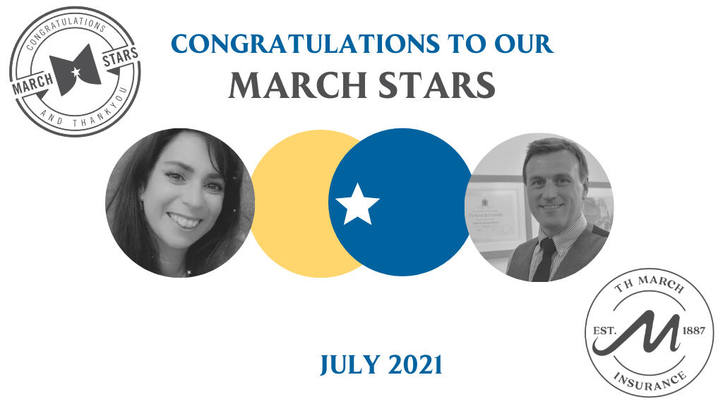 Congratulations to our March Star Winners for July