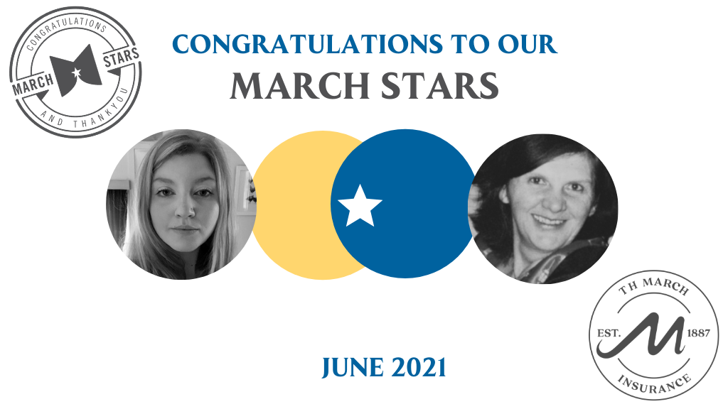 Congratulations to our March Star Winners for June