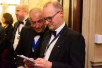 Steven Clemence performs a quick check of the speech!