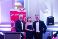 Steven Clemence and Emily Coneybreare with the award.