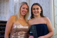Emily Conybeare and Lynne Arundel (TH March's Personal Insurances Operations Manager) with the award.